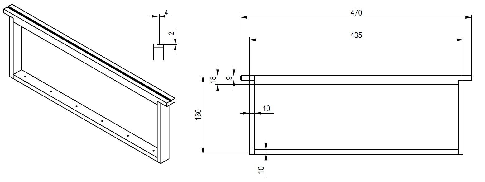 cadre de hausse dadant en kit